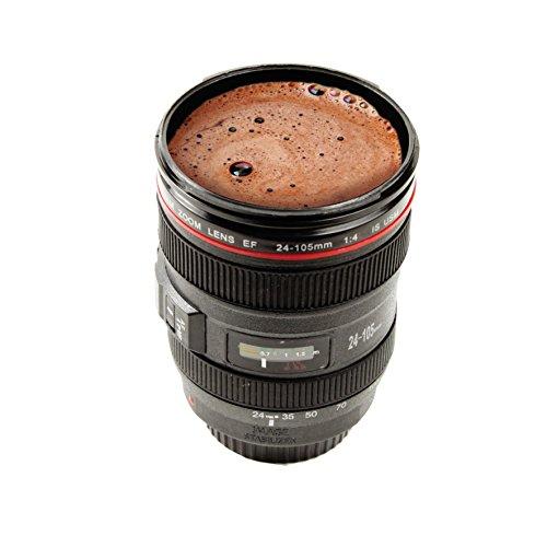 Taza objetivo cámara fotográfica. CálleseYCojaMiDinero.com