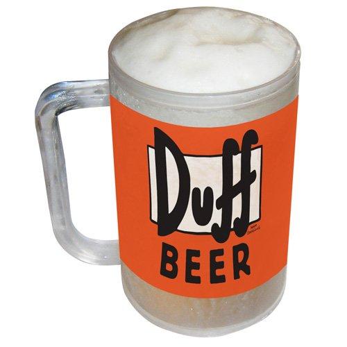 Jarra escarchada de cerveza Duff Beer. CálleseYCojaMiDinero.com