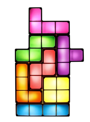 Lámpara Tetris. CálleseYCojaMiDinero.com