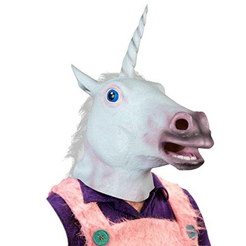Máscara cabeza de unicornio. CálleseYCojaMiDinero.com