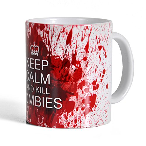 Taza keep calm and kill zombies. CálleseYCojaMiDinero.com