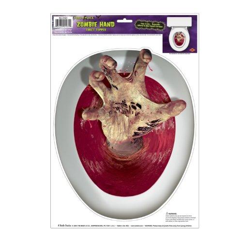Mano zombie saliendo del WC. CálleseYCojaMiDinero.com