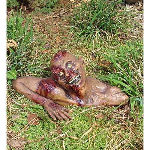 Busto zombie de jardín. CálleseYCojaMiDinero.com
