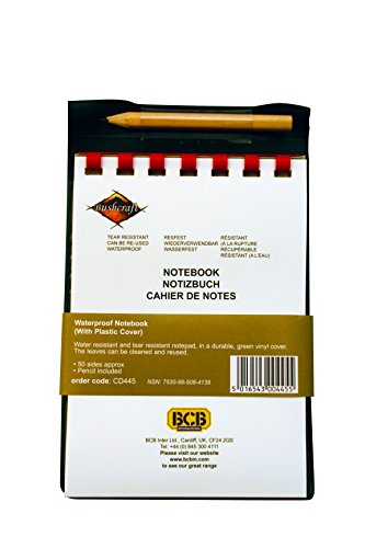 Cuaderno resistente al agua con funda. CálleseYCojaMiDinero.com
