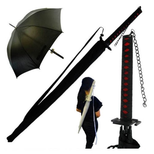 Paraguas estilo espada de samurái. CálleseYCojaMiDinero.com