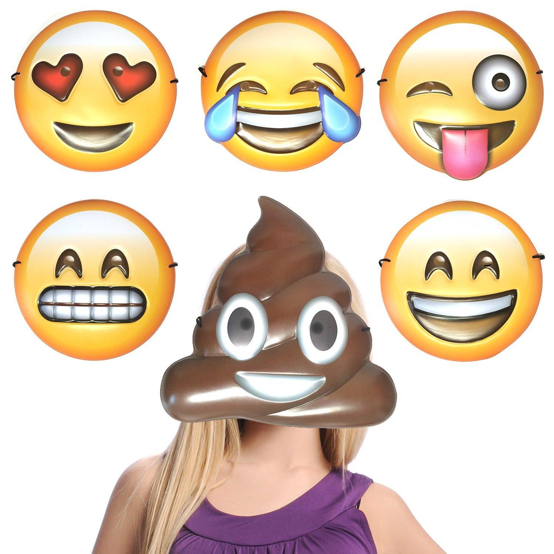 Pack de máscaras emoji emoticonos. CálleseYCojaMiDinero.com