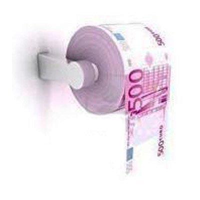 Papel higiénico billetes 500 euros. CálleseYCojaMiDinero.com