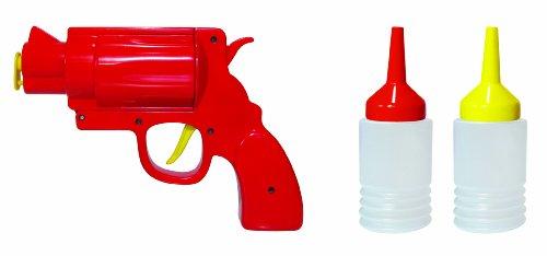 Pistola dispensador ketchup y mostaza. CálleseYCojaMiDinero.com