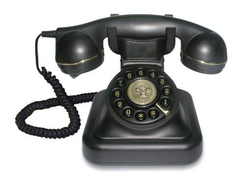 Teléfono diseño analógico retro vintage. CálleseYCojaMiDinero.com