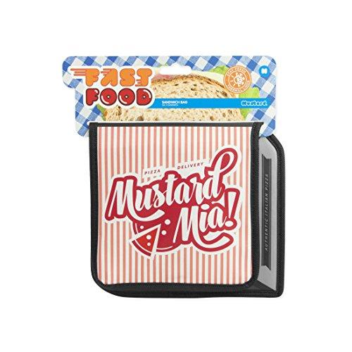 Bolsa de almuerzo térmica caja de pizza. CálleseYCojaMiDinero.com