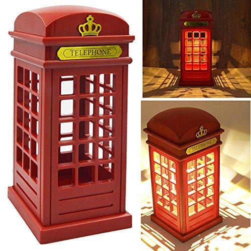 Lámpara cabina telefónica vintage. CálleseYCojaMiDinero.com