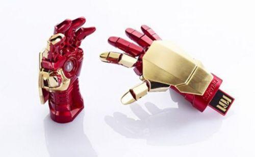 Pendrive guante Iron Man Tony Stark. CálleseYCojaMiDinero.com