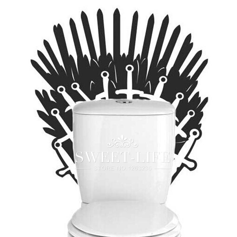 Adhesivo Juego de Tronos para el wc. CálleseYCojaMiDinero.com